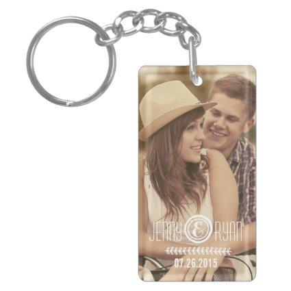 SAVE THE DATE DATE PHOTO KEY CHAIN