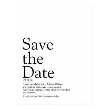 Save the Date Definition