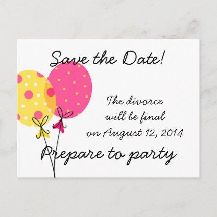 Save the Date Divorce WIll Be Final Announcement