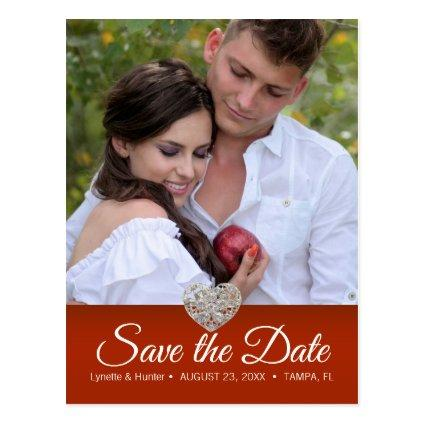 Save the Date - Diy Photo -Red