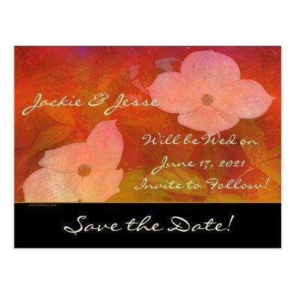 Save the Date Dogwood Watercolor