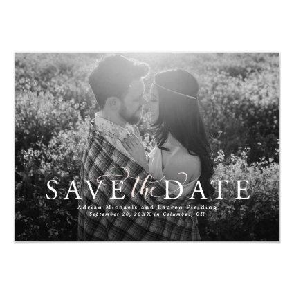 Save the date elegant Magnetsic invitation
