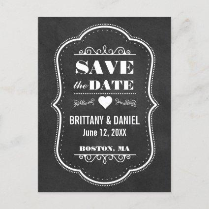Save The Date Engagement Chalkboard  W