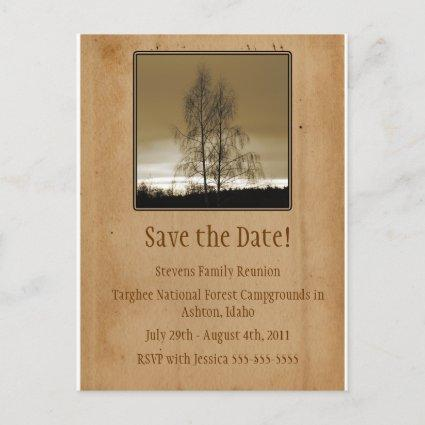 Save the Date Family Reunion Announcement
