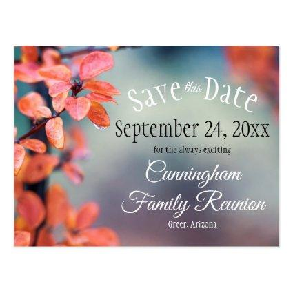 Save The Date Family Reunion Autumn Leaves Bokeh