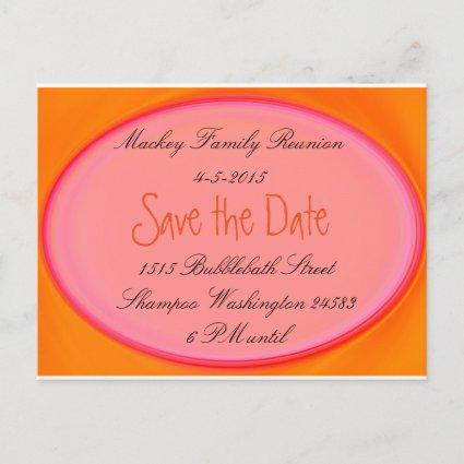 save the date family reunion, party invite etc