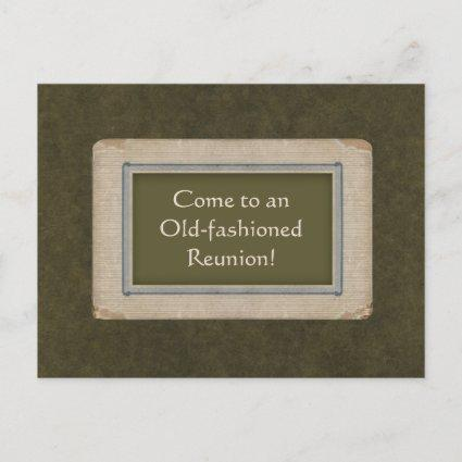 Save the Date for an Old-fashioned Reunion Announcement
