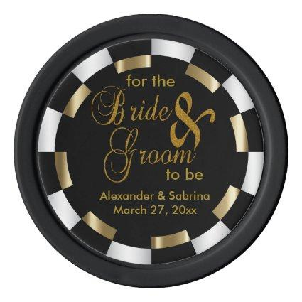 Save the Date for the Bride and Groom Poker Chips Set