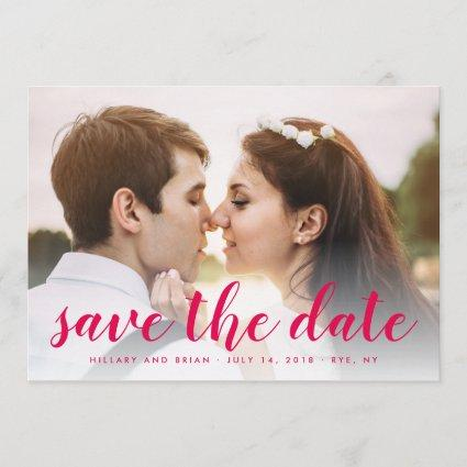 Save The Date Full Photo Red