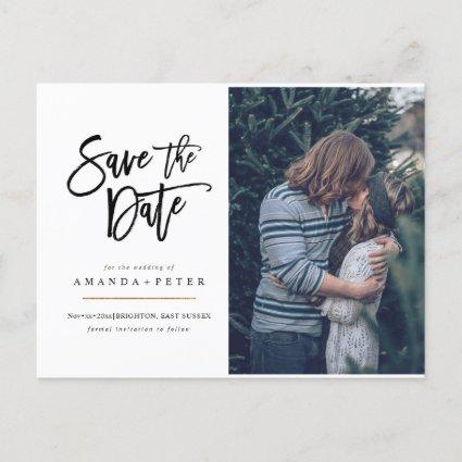 Save the Date, fun handwritten script s