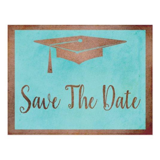 Save The Date Graduation - Chic Rose Gold Faux