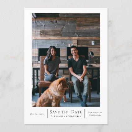 Save The Date Grey White Wedding Personalized