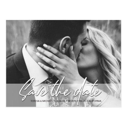 Save the Date Handwritten script Photo Engagement