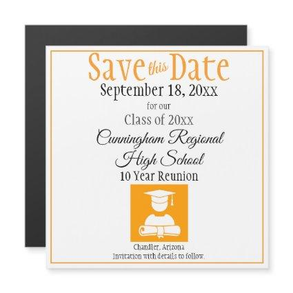 Save The Date High School Reunion Magnet Card