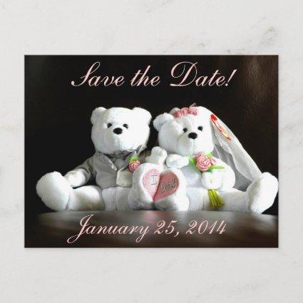 Save The Date I Do Bears Announcements
