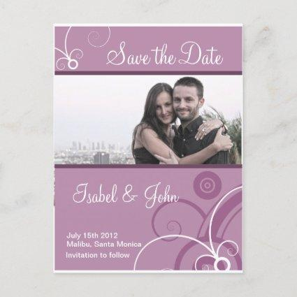 Save the Date in a Elegante Swirl  frame Announcement