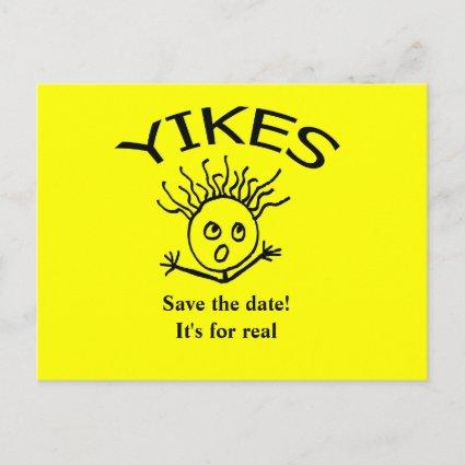 Save the date!   It's for real Announcements Cards