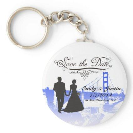 SAVE THE DATE KEYCHAIN WITH VIEW OF SAN FRANCISCO