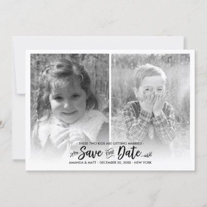 Save the Date, Kids Getting Married, Photo Save The Date