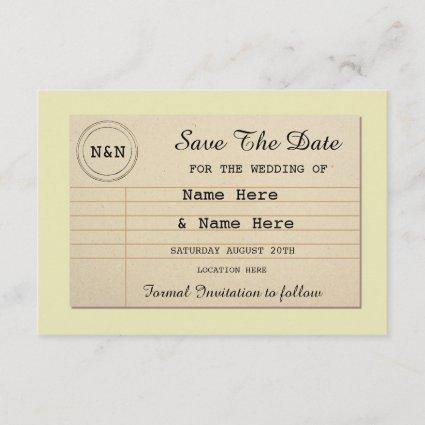 Save The Date Library Wedding Books Invites