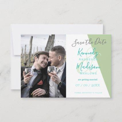 Save the Date Lime Green Minimalist Wedding