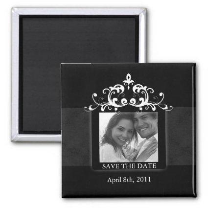 Save the Date Magnet Embellishment Black White 2