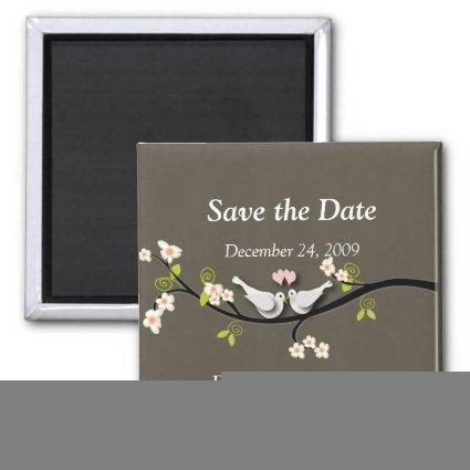 Save the Date Magnets, love birds Magnets