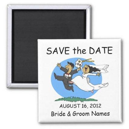 Save the Date Magnets Wedding Happy Couple Clipart