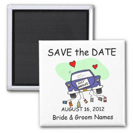 Save the Date Magnets Wedding Just Married Clipart