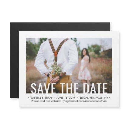Save the Date Magnets One Photo Modern Typography