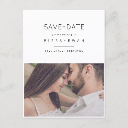 Save the Date, minimalist Announcement