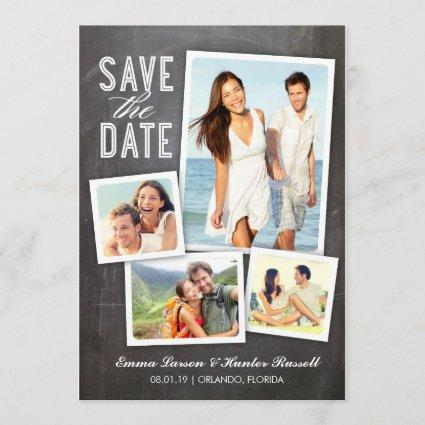 Save the Date | Modern Collage Chalkboard