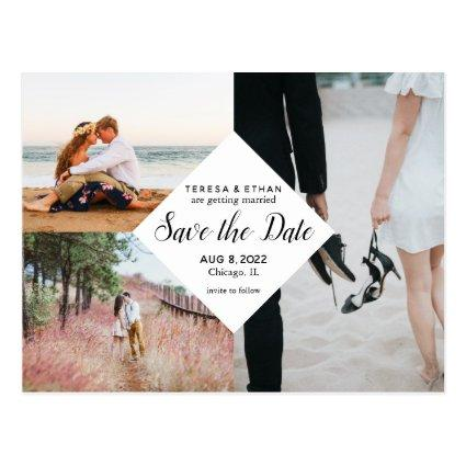 Save the Date Modern Elegant Multi-Photo Collage
