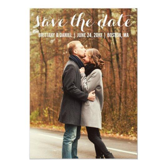 Save The Date Modern Engagement Cards WBL