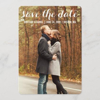 Save The Date Modern Engagement Card WBR