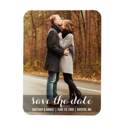 Save The Date Modern Engagement Magnet LWB