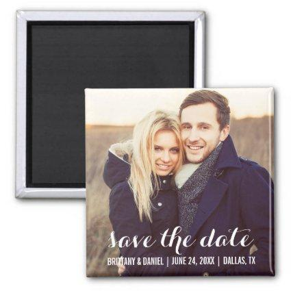 Save The Date Modern Engagement Magnets S W