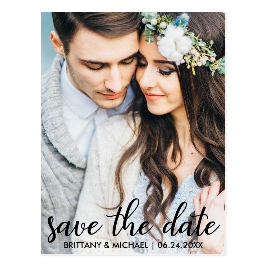 Save The Date Modern Engagement Photo  SB