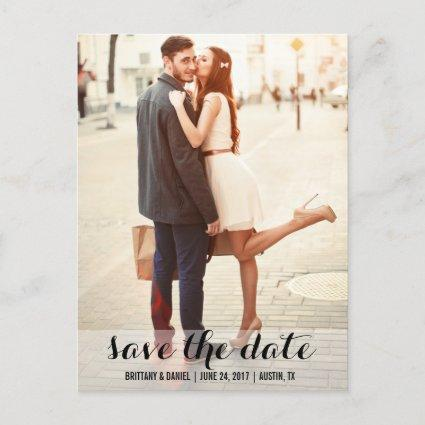 Save The Date Modern Engagement Cards L