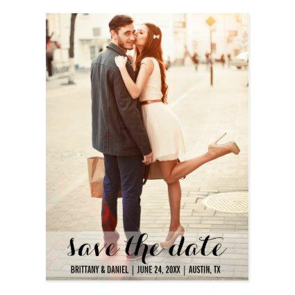Save The Date Modern Engagement  LB