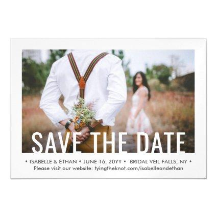 Save the Date Modern One Photo 1 Picture Wedding Magnetic Invitation
