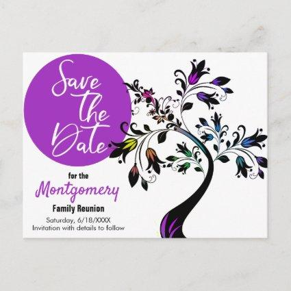 Save The Date | Modern Tree Family Reunion Announcement