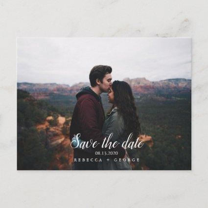 Save the Date Mountain Fall Photo