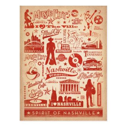 Nashville, TN - Pattern Print Cards