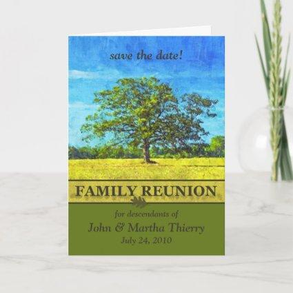 Save the Date - Oak Tree Design for Family Reunion Announcement