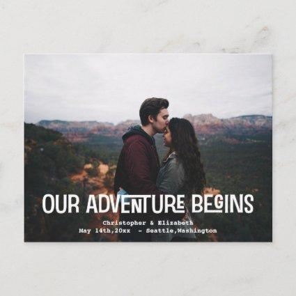 Save The Date Our Adventure Wedding Engagement