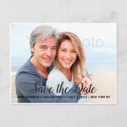 Save the Date, Personalized with Photo, Two Sided Announcement