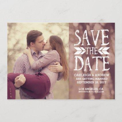 Save the Date Photo Cards | Burgundy