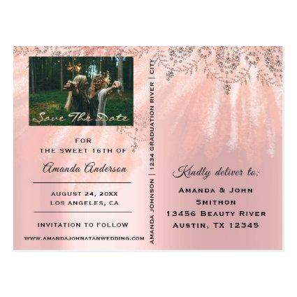 Save The Date Photo Sweet 16th 15th Bridal Shower