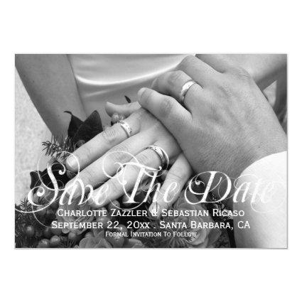 Save The Date Photo Template Personalized Wedding Magnetic Invitation